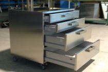 Cassattiera acciaio inox realizzata su misura